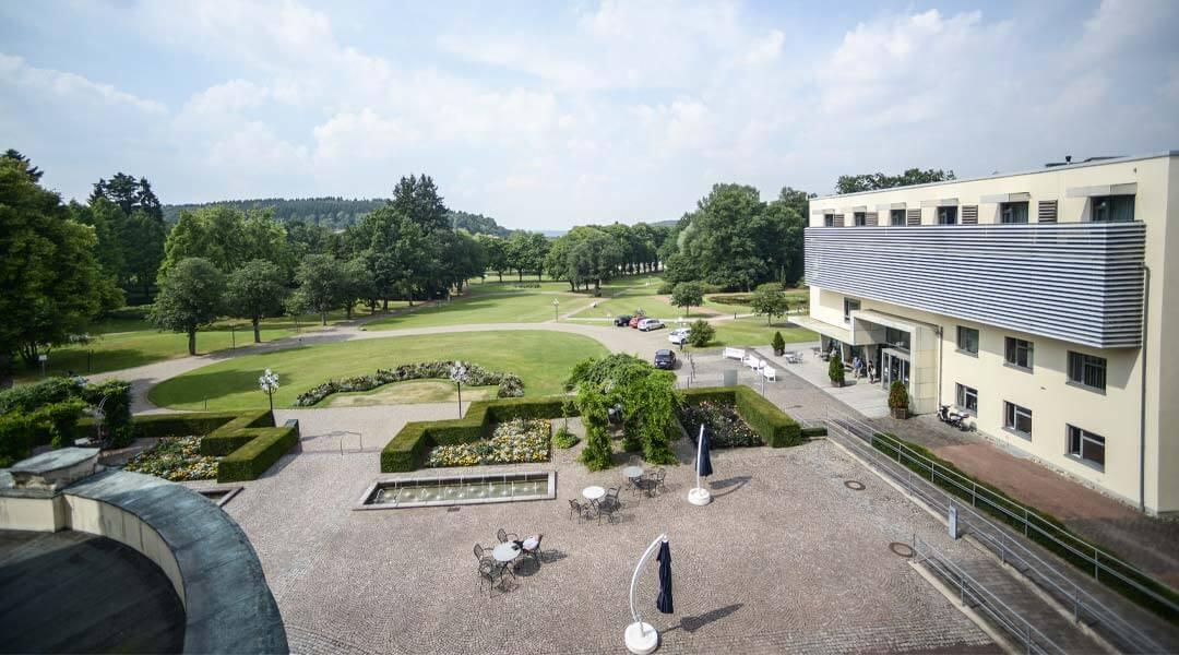 Blick aus der Park Klinik auf den Park