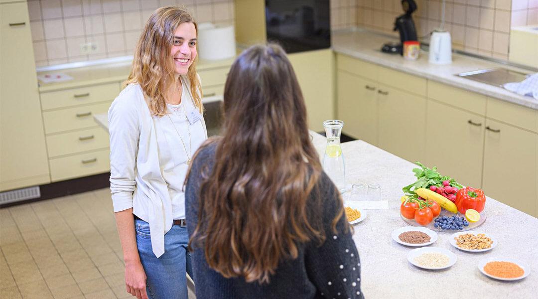 Ernährungsberatung in der Lehrküche der Park Klinik