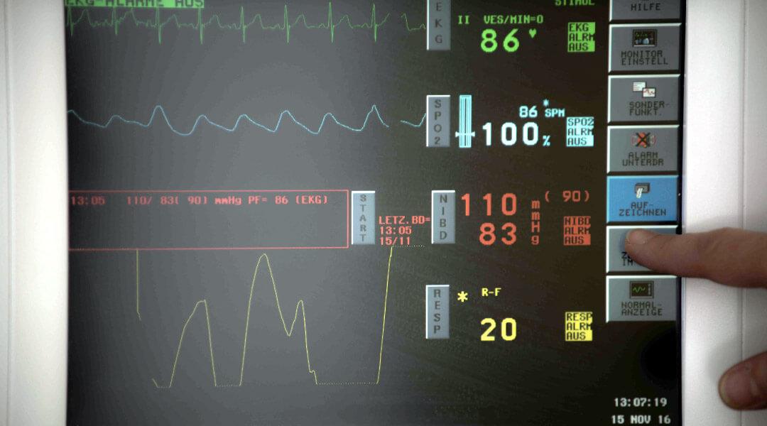 Monitor in der Diagnostik der Park Klinik