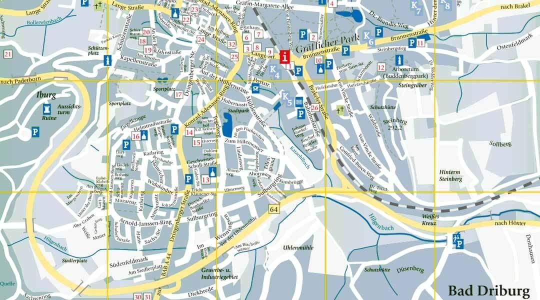 Park Klinik Stadtplan Bad Driburg
